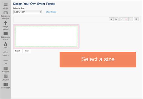 create your own tickets template design event tickets ticket printing
