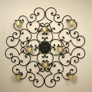 15 chic wrought iron wall candle holders you will admire With candle wall decor