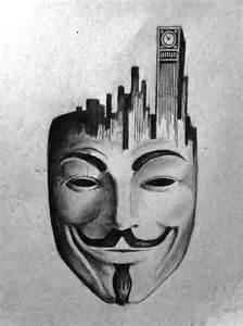 V Vendetta Mask Drawing
