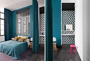 Déco Chambre Bleu Canard : chambre bleu canard salle bain super d co ~ Melissatoandfro.com Idées de Décoration