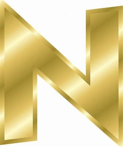 Gold Letter Alphabet Letters Clipart Clip Effect