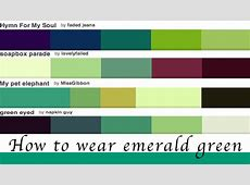 How to wear green colour of the year emerald green