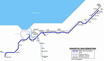 Donostia San Map Spain Metro Sebastian Urbanrail