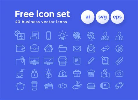 Free 40 Business Icon Set Business Plan Used In A Sentence Graphic Design Video Operational Cards Shutterfly Event Organizer Ice Cream Tour And Travel