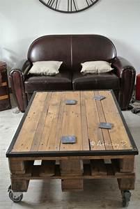 Fabriquer Une Table Basse En Palette : table basse en palette maj 2018 50 id es originales et ludiques ~ Melissatoandfro.com Idées de Décoration