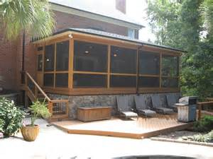 Screened Porch Deck Designs