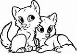 Coloring Animal Pages Foxes sketch template