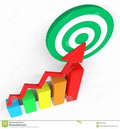 Target Report Profit Forecast Grow Business Graph