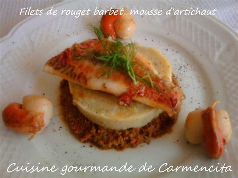cuisine artichaut cuisson recette filets de rouget barbet mousse d 39 artichaut 750g