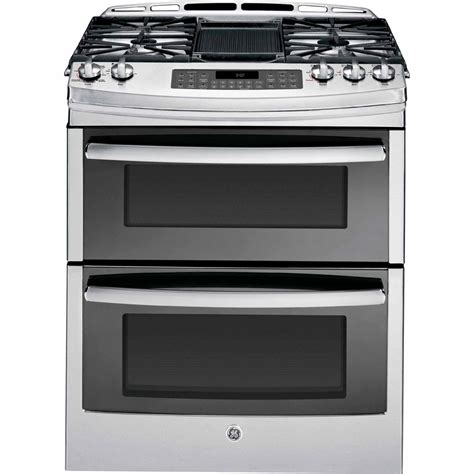 in the range from ge profile series ge profile series 6 8 cu ft slide in gas range w convection stainless steel