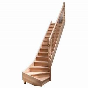 Escalier 1 4 Tournant Droit : escalier 1 4 tournant droit en h tre avec balustre tourn e castorama ~ Dallasstarsshop.com Idées de Décoration