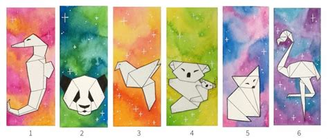 marque page animaux marque page aquarelle animaux origami un grand march 233