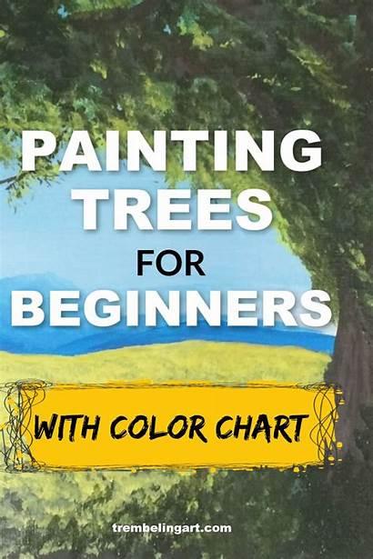 Painting Acrylic Trees Tree Paint Acrylics Beginners