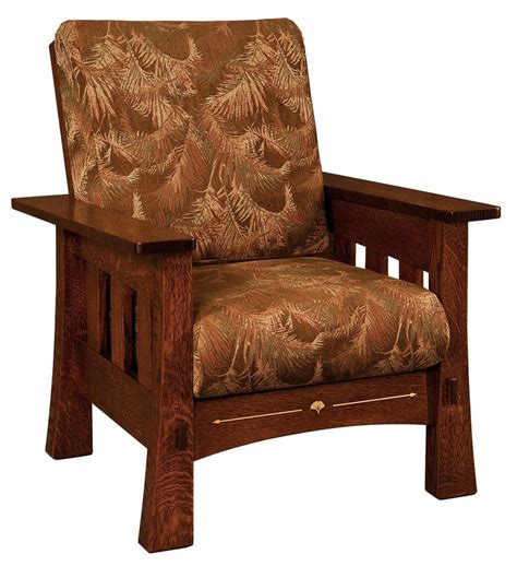 wood side chairs amish mission arts crafts mesa accent chair upholstered 1149