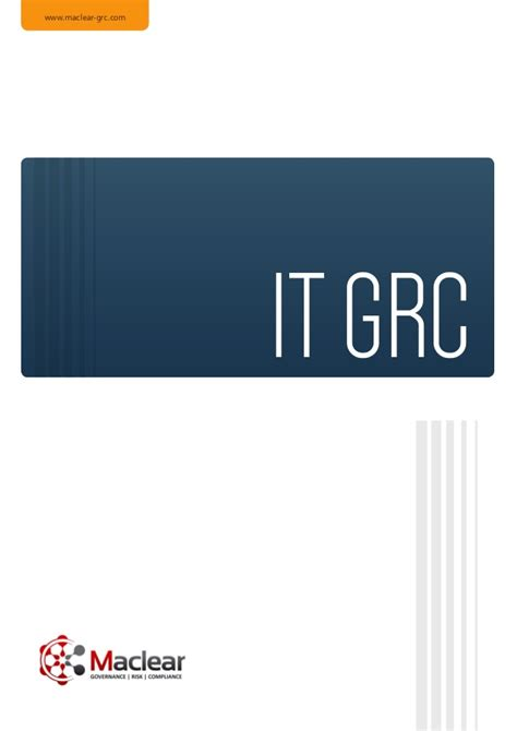 Maclear's IT GRC Tools – Key Issues and Trends