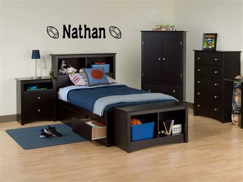 Boys Name Football Vinyl Sticker Wall Decal Bedroom