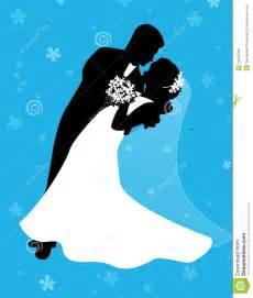Bride and Groom Dancing Clip Art