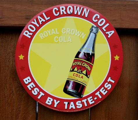 royal crown rc cola tin metal  bottle sign soda pop