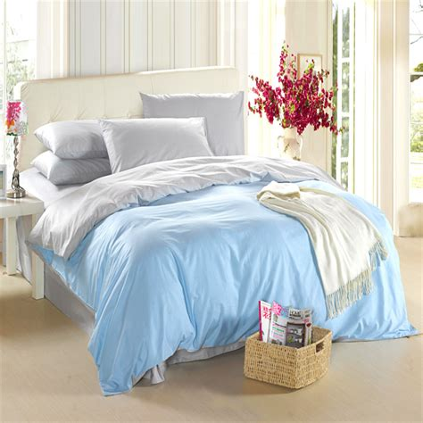 light blue and grey bedding aliexpress com buy light blue silver grey bedding set