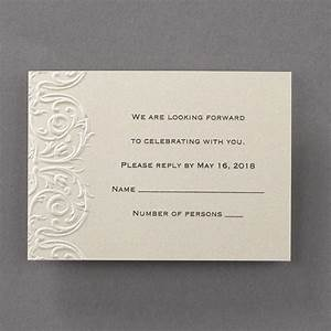 Wedding stationery elegant embossed lace invitations for Just embossed wedding invitations