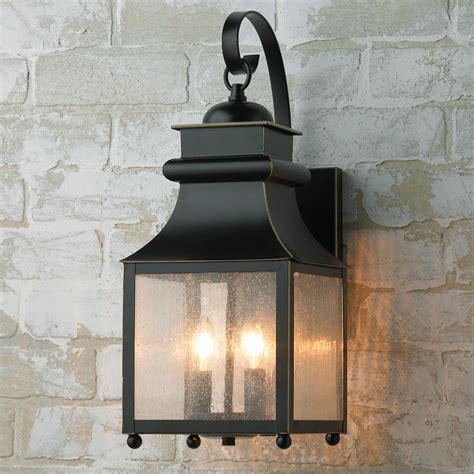 outdoor lantern lights homesteader seeded glass outdoor wall lantern shades of