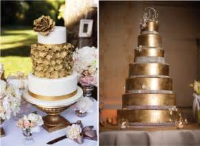 gold wedding cake metallic wedding cakes golden wedding cakes