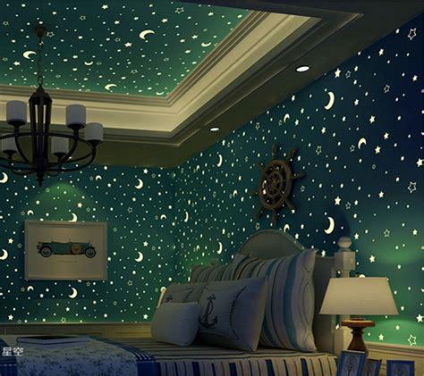 buy beibehang wallpaper  blue star moon