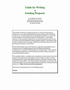 guide for writing funding proposal With writing a proposal for funding template