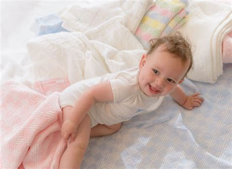 Sandpiper Cotton Baby Blanket, Made In The Usa