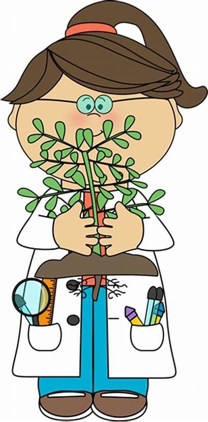 Science Scientist Clipart Plant Children Clip Holding