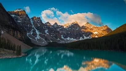 Lake Landscape Mountains Forest Background 4k Reflection