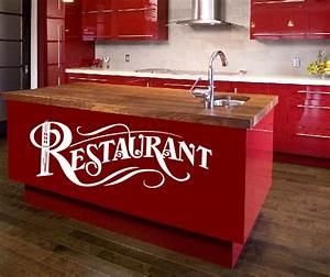 Wandtattoos Küche Esszimmer : wandtattoo wandtattoos wandaufkleber restaurant aufkleber ~ Watch28wear.com Haus und Dekorationen