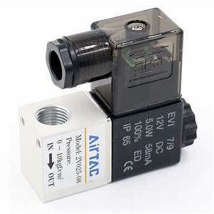 2V025-08 DC 12V Pneumatic Solenoid Air Valve 2 Way 2 ...