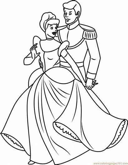 Cinderella Prince Coloring Drawing Pages Disney Charming