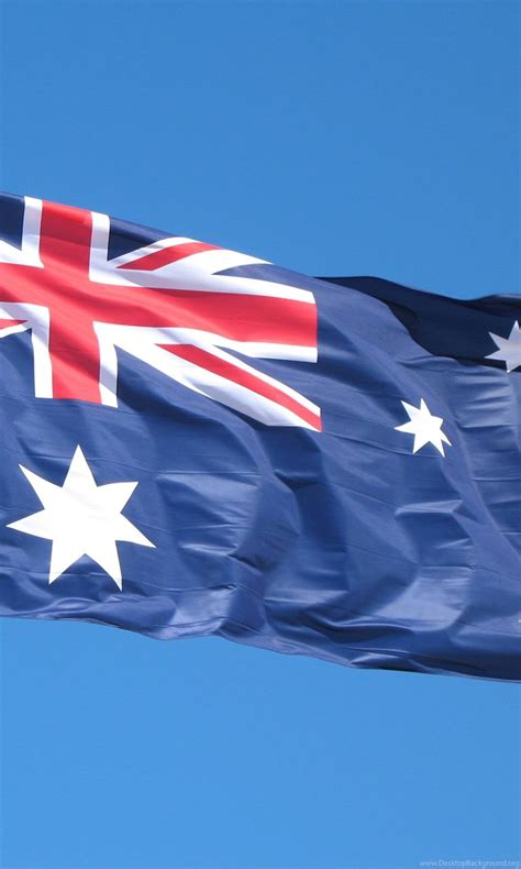 Australian flag painted over brick wall by house painter. Australia Flag Fly Wallpapers HD Desktop Background
