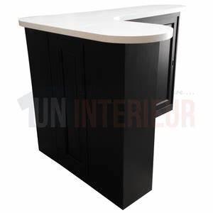 Meuble Bar Angle : meuble comptoir service arrondi avec retour sur mesure ~ Melissatoandfro.com Idées de Décoration