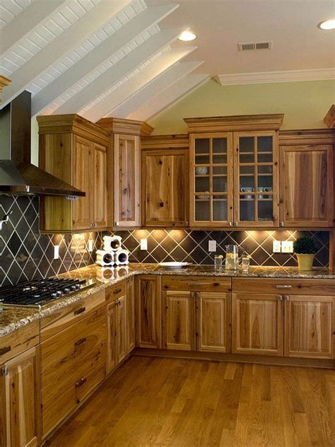 kitchen decor ideas rustic kitchen hickory cabinets wood