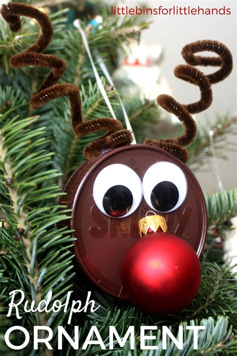 reindeer christmas ornaments reindeer ornament for easy craft activity