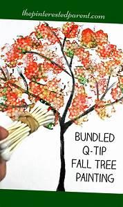 Bundled Q-Tip Autumn Tree | The Pinterested Parent