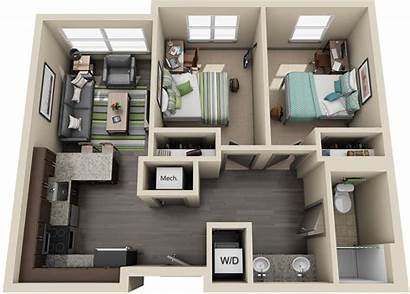 Bedroom Apartment University Housing Double Apartments Bed