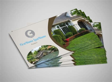 outdoor landscape design business card template