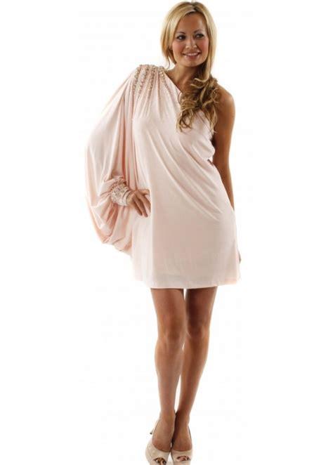 One Shoulder Drape Sleeve Dress - forever unique alina dress forever unique prom dresses