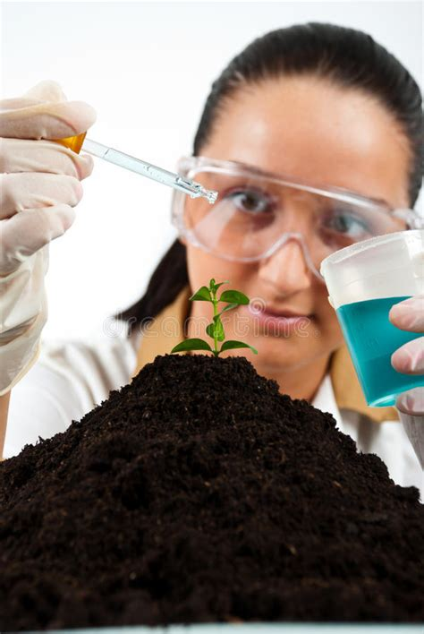Biologist woman stock photo. Image of ecology, container ...