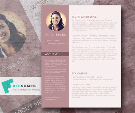 modern  chic  photo resume template giveaway