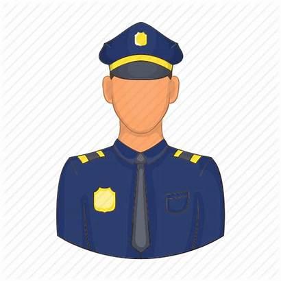 Cartoon Officer Police Security Guard Policeman Icon