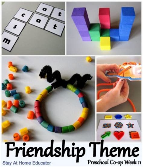 preschool co op week 11 letter aa 309 | Friendship Themed Preschool Activities1
