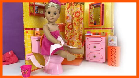 american girl doll julie  bathroom unboxing  youtube