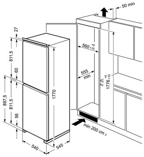 Smeg CR5050A7 Cucina Integrated Fridge Freezer