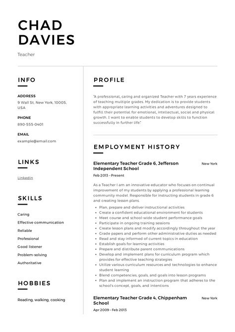 Sle Resume For Teachers by Resume Writing Guide 12 Sles Pdf 2019
