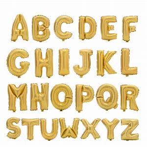17inch gold alphabet letter balloons foil balloon birthday With alphabet letter balloons gold
